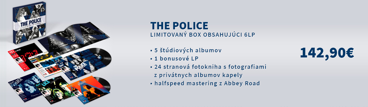 Exklúzivny LP box Police obsahujúci 5 štúdiových albumov a 1 bonusové LP